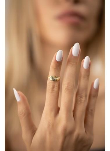 İzla Design Izla Desing Yaprak Model Kaplama 1.2 Gr  Kadın Eklem Yüzük Gümüş